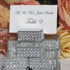 Bling Wrap For Vases Silver Place Card Holder Trimmed With A Rhinestone Wrap Wedding