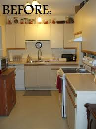 Refinish Kitchen Cabinets Before And After Painting Melamine Kitchen Cabinets Before And After Kitchen Cabinets