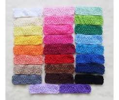 baby crochet headbands baby headbands flower crochet pastel ebay
