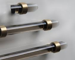 chrome and brass cabinet pulls 1 dia lucite robe towel hook polished brass polished nickel
