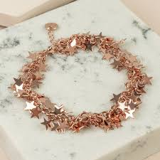 rose gold bracelet charm images Rose gold cluster star charm bracelet lisa angel jpg