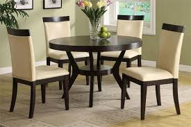 round espresso dining table u2014 desjar interior bloomfield round