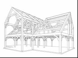 Barn Truss Fabulous Printable Barn Coloring Pages With Barn Coloring Pages