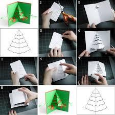 how to diy greeting card u2013 christmas tree pop up greeting card
