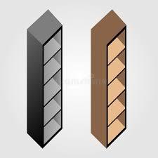 simple wooden bookshelf design stock vector image 56362442