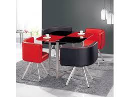 table avec 4 chaises table à manger damier noir avec 4 chaises