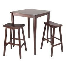 high table with stools amazon com winsome inglewood high pub dining table with saddle