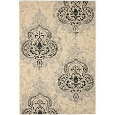Outdoor Rugs Overstock Safavieh Poolside Black Indoor Outdoor Rug 6 7 X 9 6 6