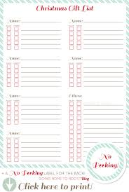 gift shopping list keep organized printable christmas gift list christmas