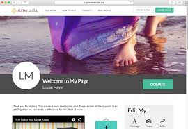 Design Your Own Welcome Home Banner by How To Create A Fundraising Page On Sister India