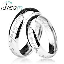 matching wedding rings for him and lotr laser engraved tungsten wedding bands set domed tungsten