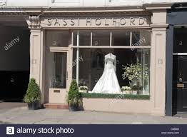 wedding dress shops london the sassi holford wedding shop on fulham road london uk stock