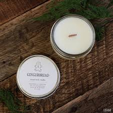 gingerbread candle christmas holiday cookie candle wood wick