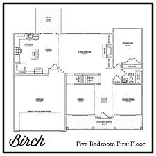 five bedroom floor plan the birch u2013 2814 ft the preserve neighborhoods