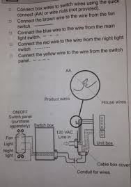 3 function bathroom ventilation fan requires complicated wiring