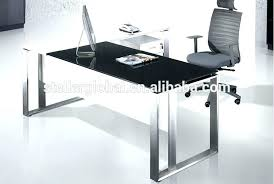 glass top office desk glass office desks admirable black cabinet and glass office desk