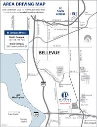 Driving Map Location And Maps Bellevue College