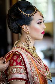 indian bridal hairstyle indian bride u0026 groom u2014 arif u0026 vanessa