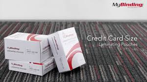 business card laminator credit card sized laminating pouches