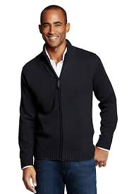 s zip front drifter cardigan sweater from lands end
