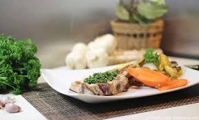 cuisiner une cote de veau côte de veau gremolata aux chignons et rattes