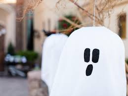 halloween ghost crafts outdoor halloween decoration hanging ghosts hgtv