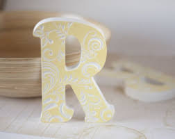 Home Letters Decoration A Gold Home Decor Office Decor Rustic Wooden Letter Wood