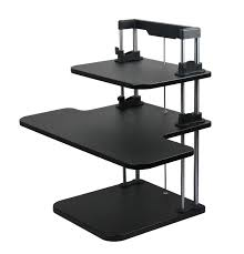 ergonomic height adjustable computer standing desk sit stand up