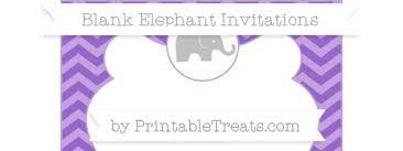 free amethyst chevron blank elephant invitation u2014 printable treats