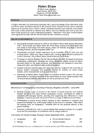 Excellent Examples Of Resumes by Excellent Example Cv Uk And International Produced By Bradley Cvs