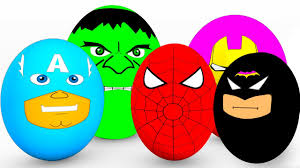 learn colors surprise eggs for babies spiderman cars educational