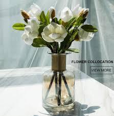 Home Decor Vases Dh Golden Neck Flower Glass Bottle Home Decoration Tabletop