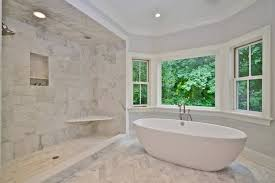 Bathroom With Open Shower Marble Master Bathroom Contemporary Bathroom Jillian Klaff Homes