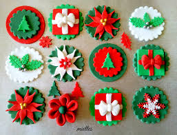 traditional christmas cupcake toppers by miettes cakesdecor