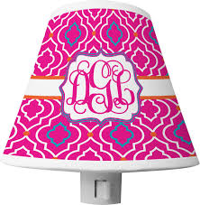 colorful trellis shade night light personalized potty training