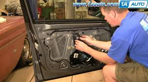 how to install replace broken inside door handle cadillac cts 03