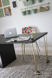 Ikea Desk Hacks by Super Easy Ikea Desk Hack Amazing Look For Cheap Designer Trapped