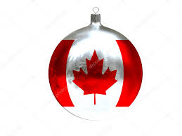 Canada Christmas Ornaments Christmas Ball With Flag Of Canada U2014 Stock Photo Masheron 59628637