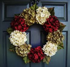 hydrangea wreath christmas hydrangea wreath wreaths winter door wreath