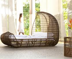 modern hand woven bed design for bedroom furniture voyage by