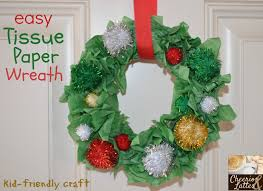 Christmas Crepe Paper Decorations by Christmas Crafts For Kids For 12 Days Of Christmas
