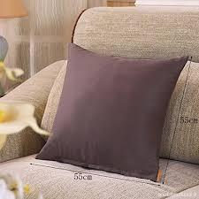 coussin de bureau 55x55cm carré oreiller moderne coussins de canapé lit bureau
