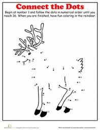 christmas dot to dot 3 worksheets activities and math