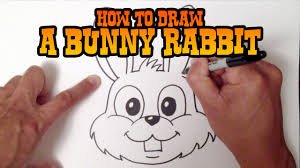 how to draw a bunny rabbit step by step video youtube