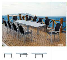 all weather dining table dining table set for 12 all weather outdoor furniture with tempered