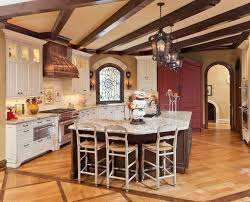 copper vent hoods kitchen traditional with tile backsplash curtain