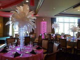 Centerpiece With Feathers by Feather Centerpieces With Chandelier Base For A Bat Mitzva U2026 Flickr