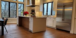 wire brushed white oak kitchen cabinets top trends in wood flooring for 2020 mansion hill custom