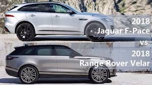 2018 jaguar f pace vs 2018 range rover velar technical comparison