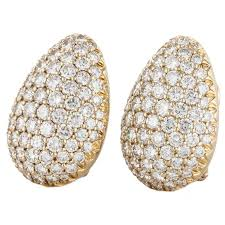 earrings for sale pave diamond clip earrings for sale at 1stdibs